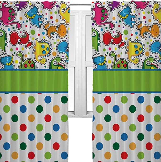 RNK Shops Dinosaur Print & Dots Curtains - 40